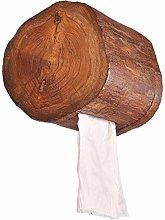 JUNLILIN Tissue Dispenser Vintage Wood Paper Tube