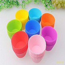 JUNSHUO 10pcs Nonstick Ripple Food Grade Silicone