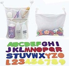Junxave 2 x Mesh Baby Bath Toy Storage + 36 Bath