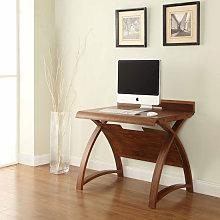 Juoly Small Computer Desk Curve Shape In Walnut