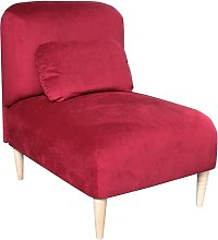 Jupi Chair Bed Happy Barok Upholstery: Red