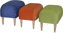 Jupi Footstool Happy Barok Upholstery: Beige