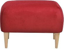 Jupi Footstool Happy Barok Upholstery: Red