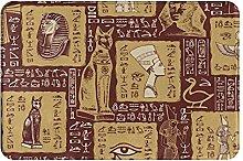 Jupsero Bathroom Rugs Bath Mat - Ancient Egypt