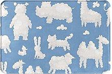 Jupsero Bathroom Rugs Bath Mat - Clouds Animal
