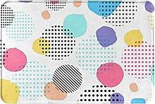 Jupsero Bathroom Rugs Bath Mat - Color Black Dots