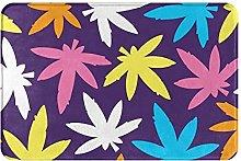 Jupsero Bathroom Rugs Bath Mat - Color Weed Leaves