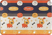 Jupsero Bathroom Rugs Bath Mat - Cute Dogs Door