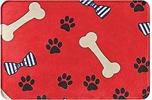 Jupsero Bathroom Rugs Bath Mat - Dog Bone