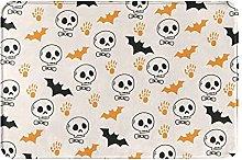 Jupsero Bathroom Rugs Bath Mat - Halloween Bat
