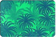 Jupsero Bathroom Rugs Bath Mat - Palm Trees Door