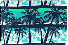 Jupsero Bathroom Rugs Bath Mat - Tropical Palm