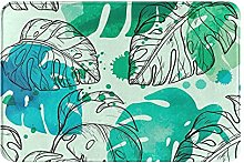 Jupsero Bathroom Rugs Bath Mat - Tropical Plants