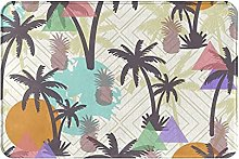 Jupsero Bathroom Rugs Bath Mat - Tropical Tree