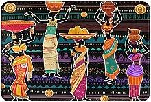 Jupsero Bathroom Rugs Bath Mat - Women in Ethnic