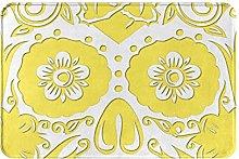 Jupsero Bathroom Rugs Bath Mat - Yellow Skull Door