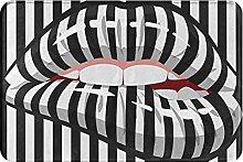 Jupsero Bathroom Rugs Bath Mat - Zebra Pattern