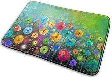 Jupsero Colorful Dandelions Memory Foam Bath Mat
