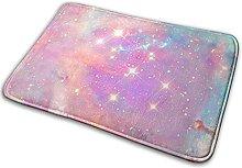 Jupsero Pink Galaxy Memory Foam Bath Mat Non Slip