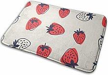 Jupsero Strawberry Memory Foam Bath Mat Non Slip