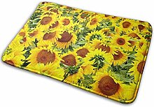 Jupsero Sunflowers Memory Foam Bath Mat Non Slip