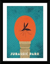 Jurassic Park Amber Framed Print Wall Art