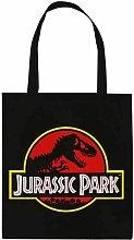 Jurassic Park Logo Tote Bag (One Size) (Black/Red)