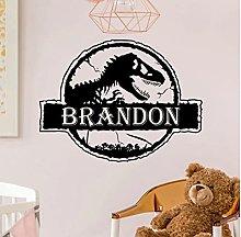 Jurassic Park Wall Decal Custom Name Dinosaur