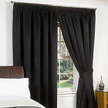 Just Contempo Blackout Pencil Pleat Curtains,