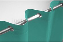 Just Contempo Faux Silk Eyelet Curtain Panel, Teal