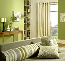 Just Contempo Faux Silk Eyelet Lined Curtains,