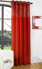 Just Contempo Sequin Voile Panel, Red, 55x72 inches