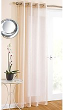 Just Contempo Sparkle Eyelet Voile Panel, Cream,