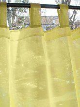 Just Contempo Tab Top Voile Panel, Yellow, 58x54
