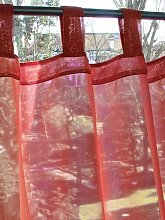 Just Contempo Voile Panel, Red, 58x48 inches