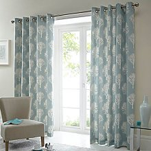 Just Contempo Woodland Trees Eyelet Lined