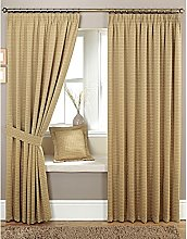 Just Contempo Woven Pencil Pleat Lined Curtains,