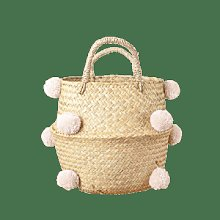 Just So Interiors - Sand Pom Pom Storage Basket