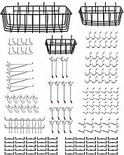 Justech 3PCs Wire Wall Basket With Hook Hanging