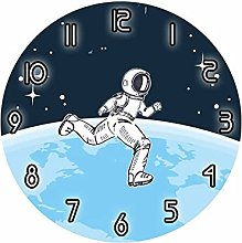 JUSTHENGGUANG Wall Clocks Astronaut Floating