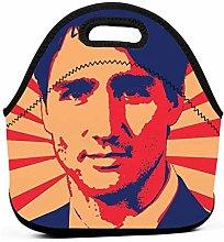Justin Trudeau Propaganda Art Insulated Lunch Bag