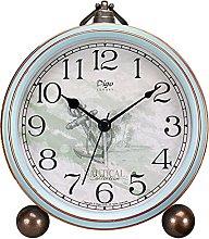 Justup Alarm Clock, 5.2 Inch Blue Vintage Retro