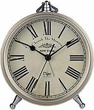Justup Gold Table Clock, Non-Ticking Retro Vintage