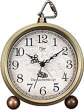 Justup Golden Alarm Clock, 5.2 Inch Classic Retro