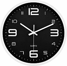 JUSTUP Modern Wall Clock,12in Silent Non-Ticking