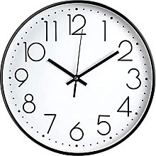 JUSTUP Modern Wall Clock,8 in Silent Non-Ticking