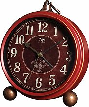 JUSTUP Red Table Clock,Vintage Decorative