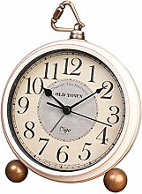 JUSTUP Retro Alarm Clock,5.2in Non-Ticking Old