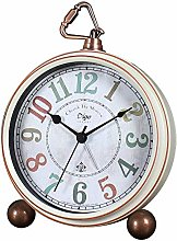 JUSTUP Retro Table Clocks,5.2in Non-Ticking Old