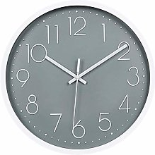 JUSTUP Silent Wall Clock,12in Modern Non-Ticking